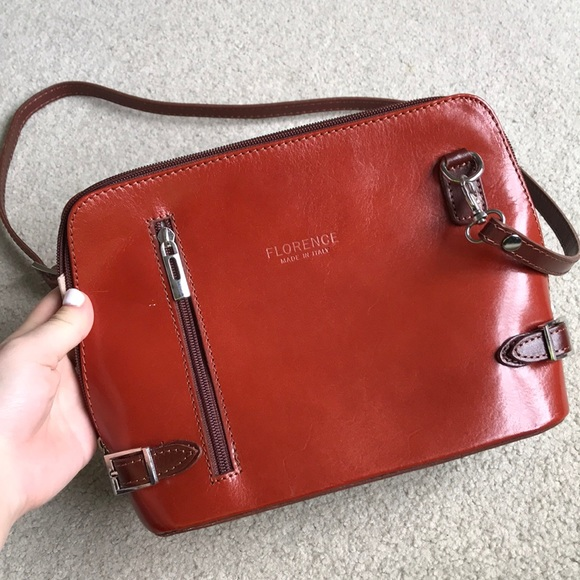 1082042f7a1cc Genuine leather crossbody bag from Florence Italy